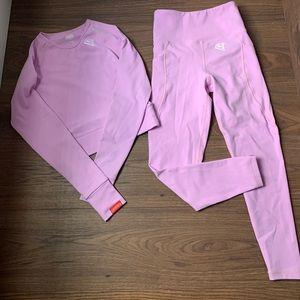 Baby pink workout set. Size XS Fits like a small.